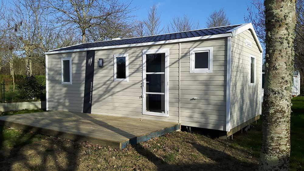 Location - Mobil-Home Lodge Lo74 27,5 M² - 2 Chambres - Camping de Ker-Lay