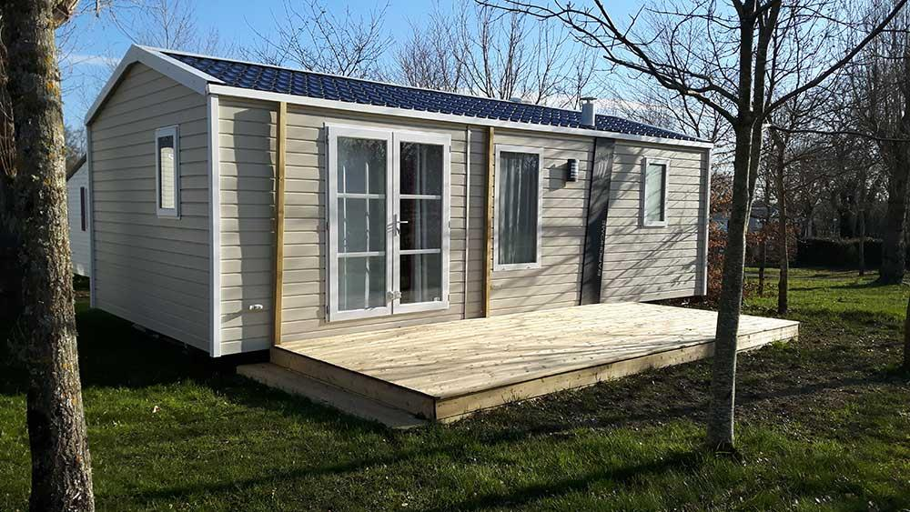 Location - Mobil-Home Lodge Lo77 29,5 M² - 2 Chambres - Camping de Ker-Lay