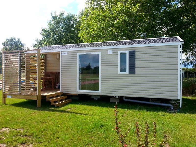 Location - Mobil-Home Duo 27M² / 2 Chambres - Terrasse - Camping Loire et Châteaux