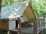 Rental - Hut Middle-Canvas Middle-Wood Albret - Camping Sites et Paysages SAINT-LOUIS