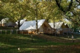 Rental - Hut Middle-Canvas Middle-Wood Gascogne - Camping Sites et Paysages SAINT-LOUIS