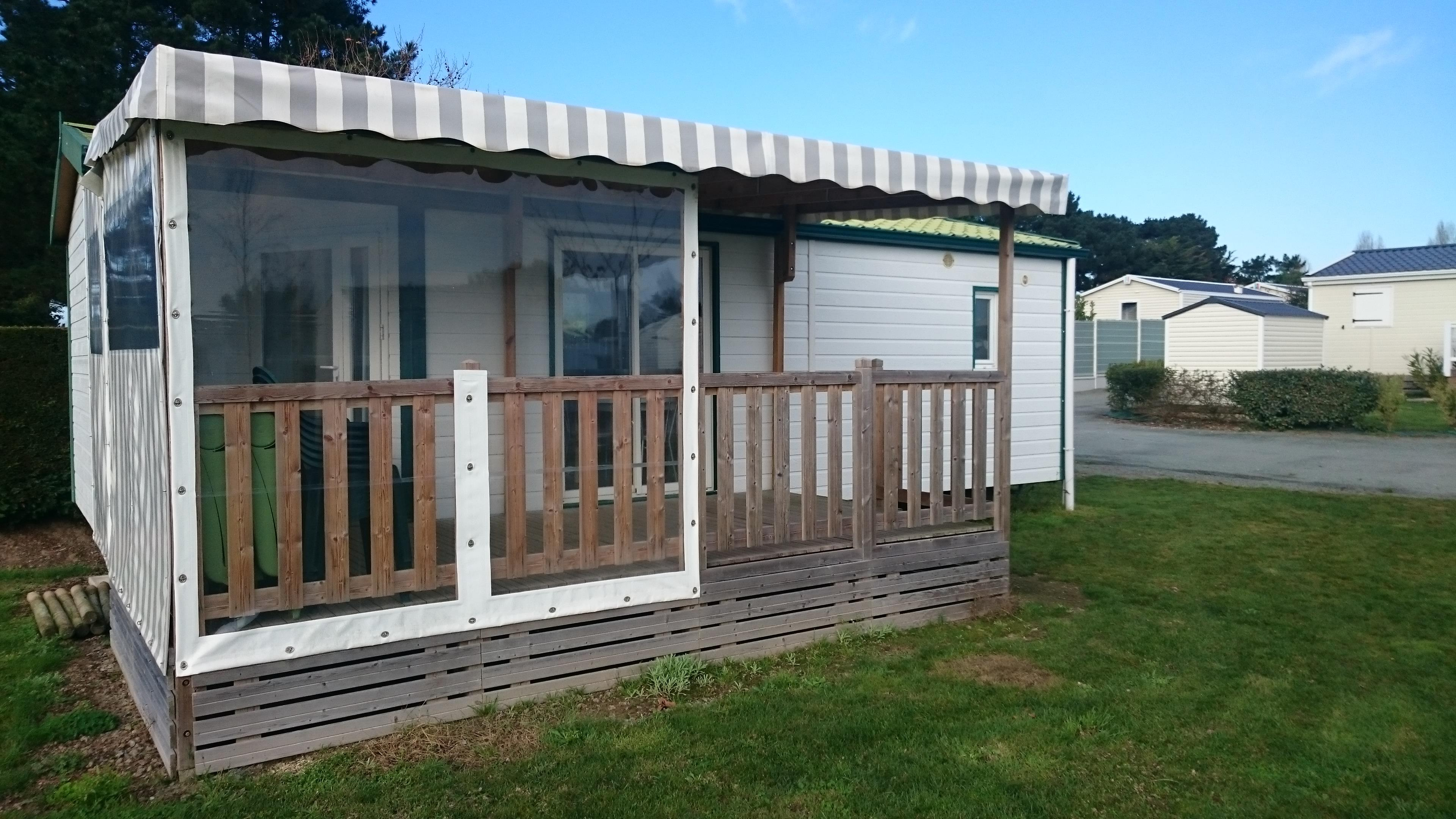Mobil home Confort 2 rooms, 35m² with covered and closed terrace