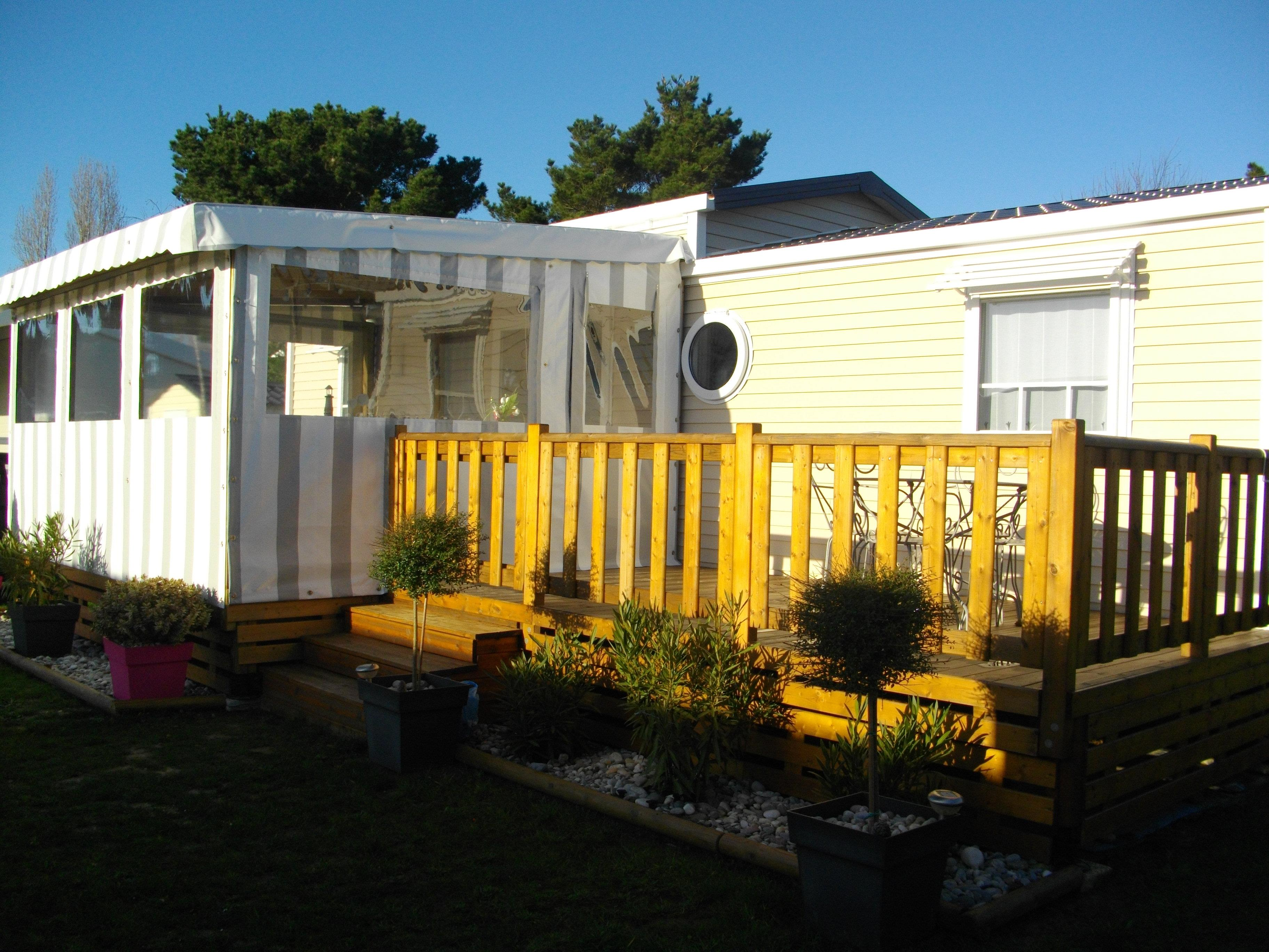 Mobil Home Grand Confort 3 rooms 40m² with covered and closed terrace