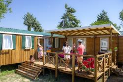Huuraccommodaties - Stacaravan Tribu + Top Tv - Capfun - Camping Joncal