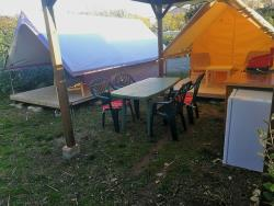 Huuraccommodatie - Canada Treck Eco 12M² ((Slaap)Kamer) - Flower Camping Provence Vallée