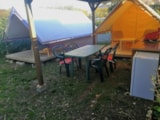 Rental - Canada Treck Eco 12M² (2 Rooms) - Flower Camping Provence Vallée
