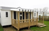 Rental - Mobile home FLORES  5 people - 2 bedrooms / Terrace and TV - Camping Maupassant