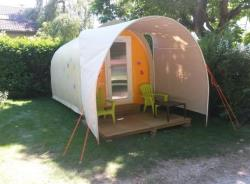Accommodation - Bungalow Coco 1 Bedroom Kitchen - Camping Les Plages de l'Ain