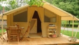 Rental - Tent with kitchen - Wheelchair friendly - Camping Les Plages de l'Ain