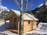 Rental - Chalet Wall lodge CONFORT+ 24m² (1 bedroom) - Flower Camping le Montana
