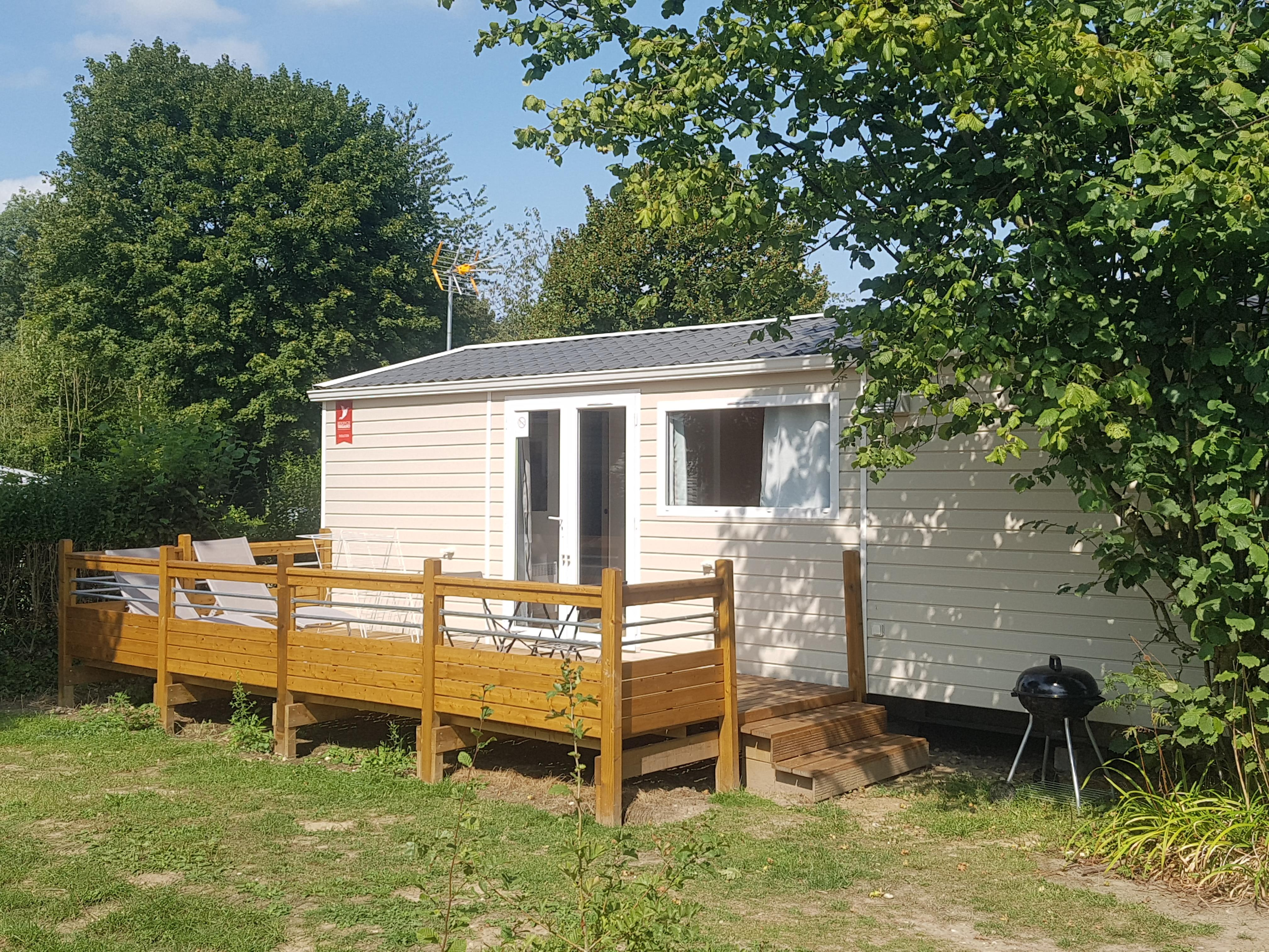 Location - Mobil Home Les Violettes - 2 Chambres - Camping le Picardy