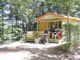 Rental - Chalet Moréa Confort 25M² (2 Bedrooms) + Sheltered Terrace - Camping Domaine La Plage du Garoustel