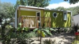 Rental - Mobile-home Grand Confort 23m² - Half-covered terrace - 2 bedrooms - Camping Le Bois Verdon