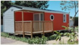 Rental - Mobile-home Grand Confort 25m² - Half-covered terrace - 2 bedrooms - Camping Le Bois Verdon