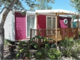 Rental - Mobile-home Grand Confort 28m² - Half-covered terrace - 2 bedrooms - Camping Le Bois Verdon