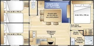 Mobilhome Accostage - 3 Bedrooms + Television And Dishwasher