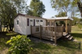 Rental - Cottage 24M² - 2 Bedrooms - Camping Le Mas des Chênes