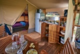 Rental - Lodge Kenya 34m² (without toilet blocks) - Camping Le Mas des Chênes