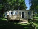 Rental - Mobilhome Sunroller (2009) 6 Persons / 3 Bedrooms - Camping Des Prairies d'Auvergne
