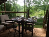 Rental - Lodge River view (2 bedrooms) + sheltered terrace - Camping Morédéna