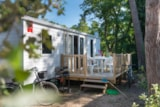 Rental - 2 bedroomed mobile home Esprit with terrace - Camping les Rives de Condrieu