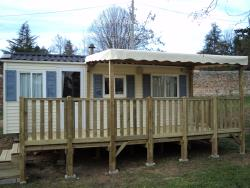 Mobile-home 3 bedrooms + Half-covered terrace