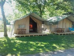 Accommodation - Tentes Lodges Safari 2 Chambres  4/5 Personnes - Camping Les Eydoches