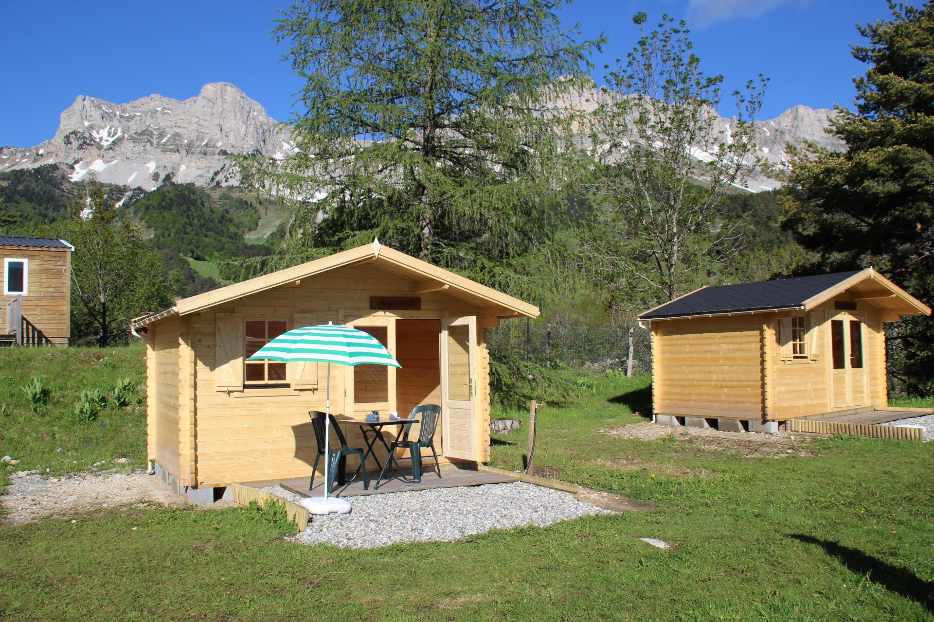 Huuraccommodaties - Mini-Chalet  Narcisse - Camping Les 4 Saisons