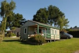 Rental - Chalet Eco 35m² (2 Bedrooms) + terrass - Wheelchair friendly - Flower Camping Les Capucines