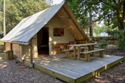 Accommodation - Tent 4 Places In Wood And Canvas, 2 Bedrooms (1 Bed 140, 2 Beds 90 Sheets Compulsory), Kitchen Area, With Electricity, No Sanitary Facilities. - Camping Pré Rolland