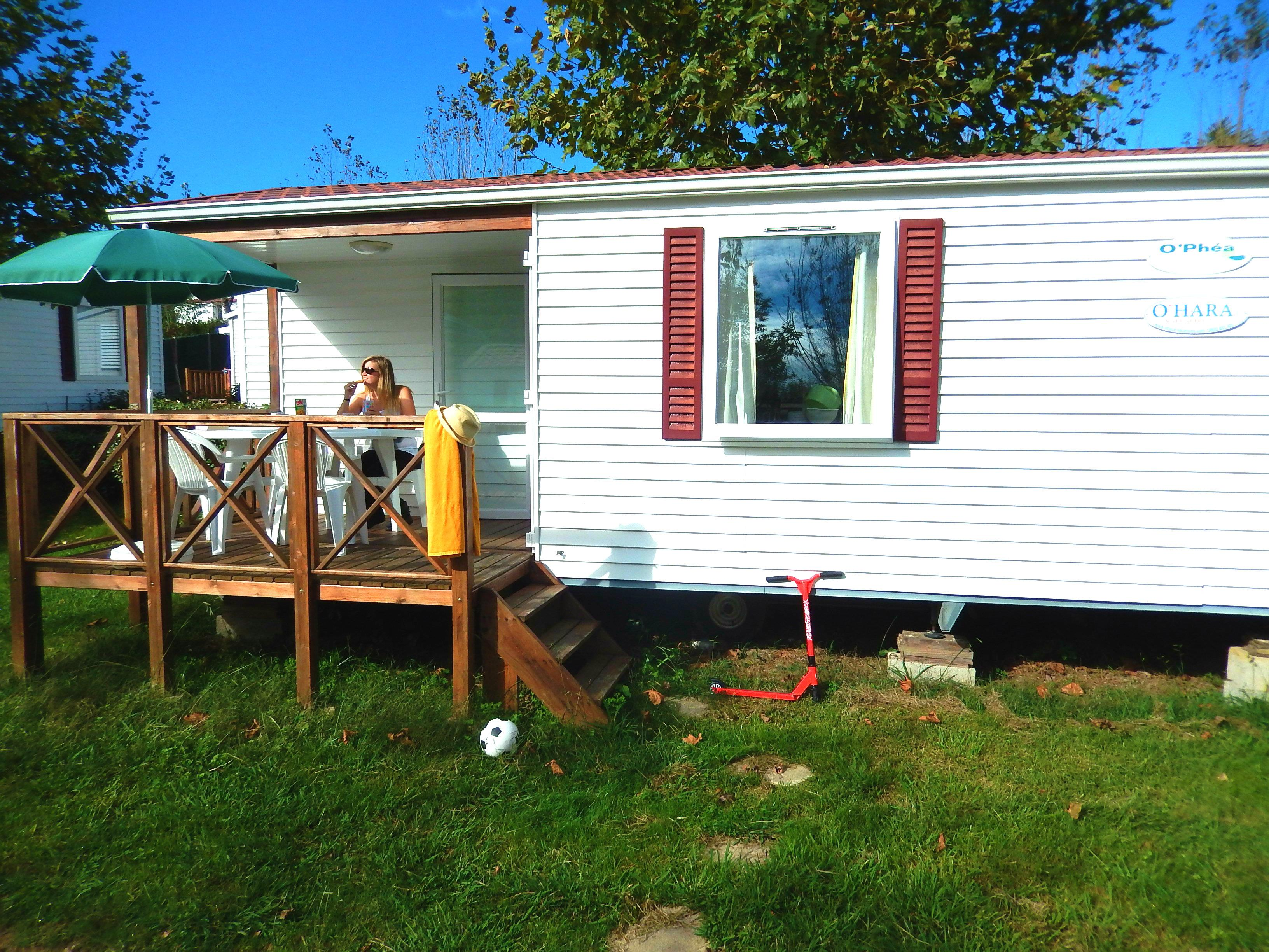 Mobil-Home 25m² 2 chambres + terrasse 7m²