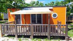 Location - Mobilhome Confort O'hara Orange 2 Chambres Proche Du Lac - Camping D'Herbelon