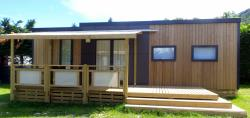Location - Mobil Home Grand Confort  3 Chambres Taos Bord Du Lac - Camping D'Herbelon