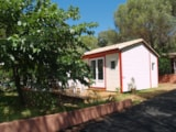 Rental - Chalet Coba 4 Pers. + Place Per 1 Vehicle Eco - Camping Les Cigales