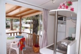 Rental - IDAHO 4 pers. + place per 1 vehicule ECO - Camping Les Cigales
