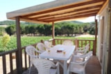 Rental - TEXAS + place per 2 vehicles ECO - Camping Les Cigales