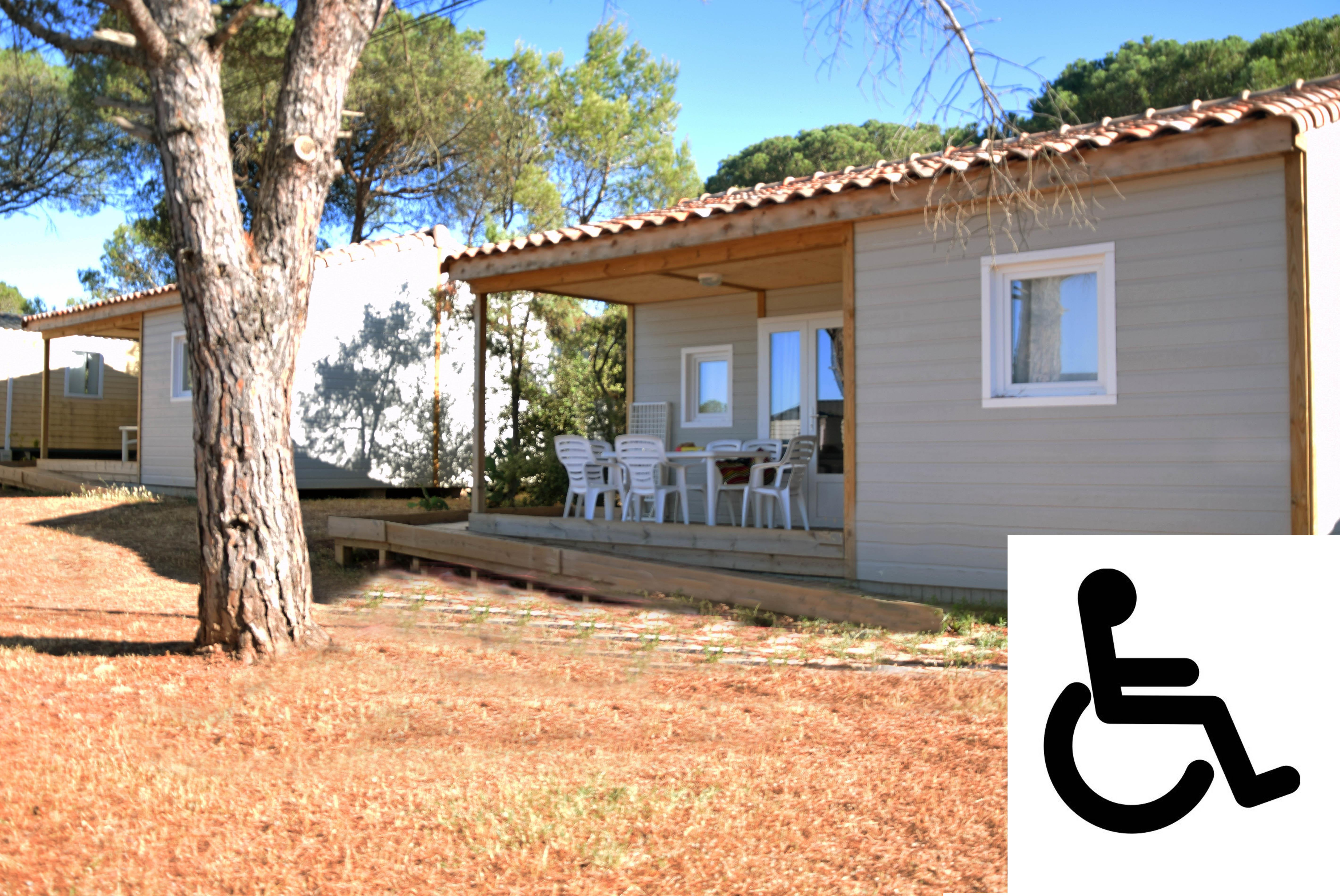 Location - Chalet Chicana (Pmr) 6 Pers. + 1 Place Véhicule. Eco - Camping Les Cigales