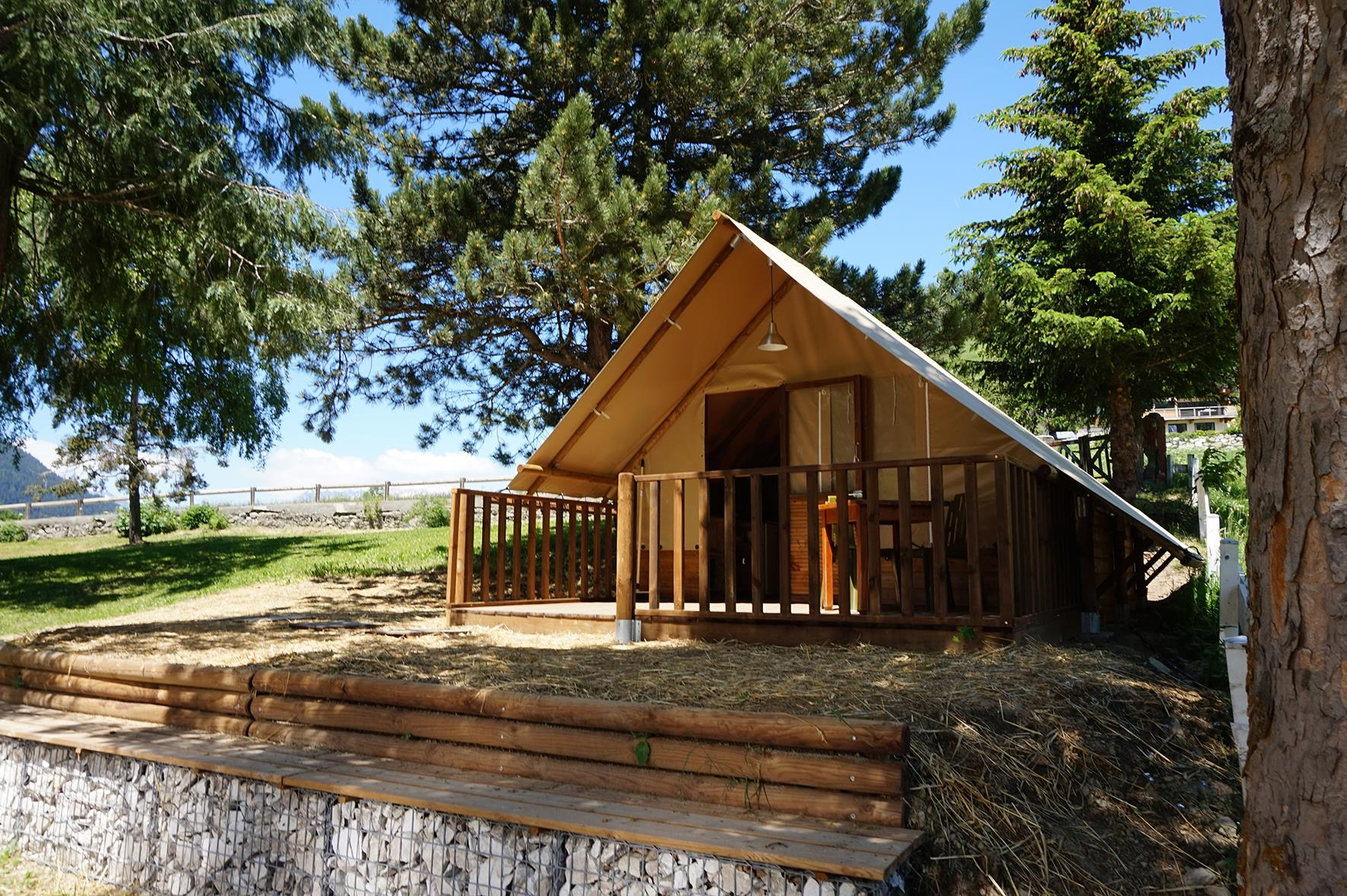 Location - Tente Lodge Famille - Camping Les Lanchettes