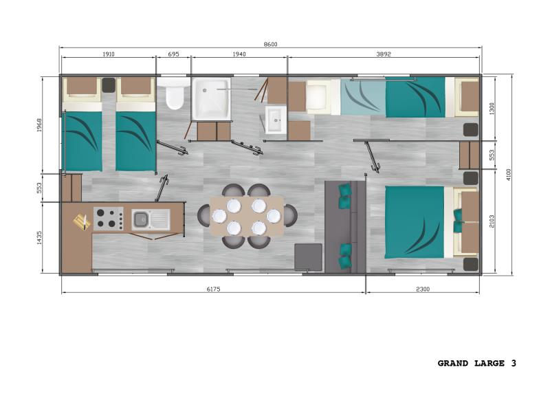 Mobilhome Grand Large 6 places Climatisation (2/8)