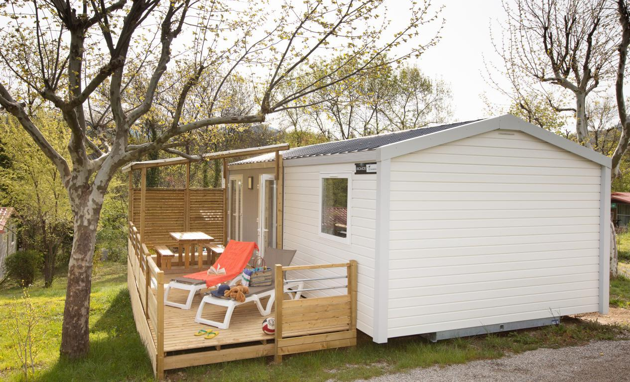 Location - Mobilhome Grand Large Trois Chambres Clim. - Ardèche Camping