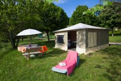 Rental - Canvas Bungalow 19M² - Ardèche Camping