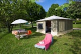 Rental - Canvas Bungalow 19M² - Without Toilet Blocks - Ardèche Camping