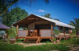 Rental - Lodge Kenya Confort+ 34m² 2 bedrooms / Terrace - Flower Camping Les Vertes Feuilles