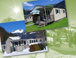 Location - Mobil'home 4 Pers / 25M² - 2 Chambres 4 Pers. Dim.->Dim. - Camping - Caravaneige L'Oustalet