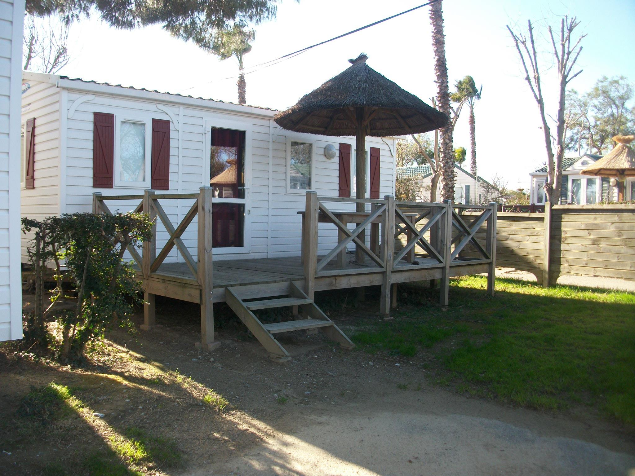 Location - Mobil-Home Budget Standard 2 Chambres Tv + Wifi - Camping Les Galets