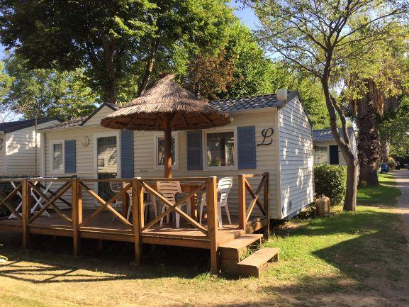 Location - Mobil-Home Budget Cosy 2 Chambres Tv + Wifi - Camping Les Galets