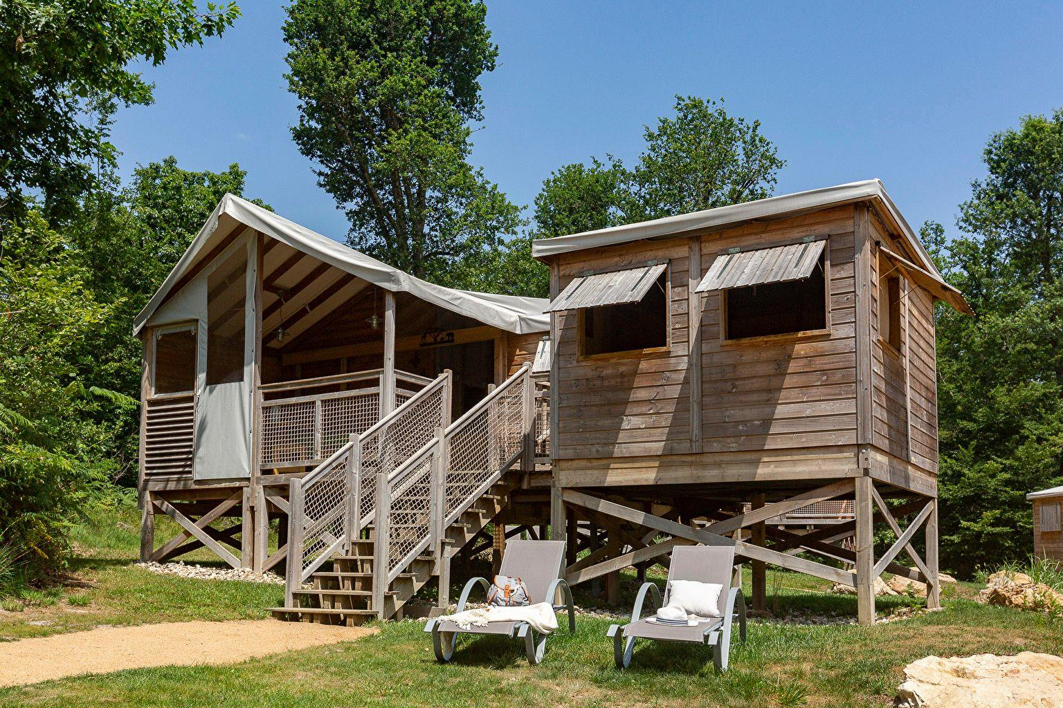 Location - Lodge 3 Chambres **** - Camping Sandaya Les Alicourts Resort
