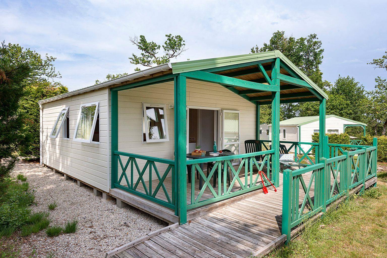 Location - Chalet 2 Chambres Pmr - Camping Sandaya Les Alicourts Resort