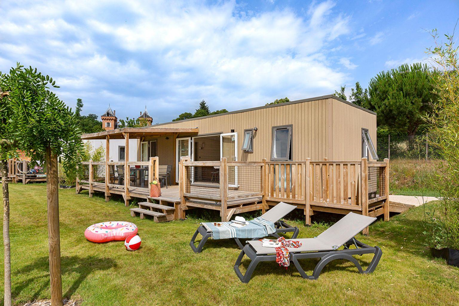 Location - Cottage Key West Family 3 Chambres - 2 Salles De Bain - Climatisation Premium - Camping Sandaya Les Alicourts Resort