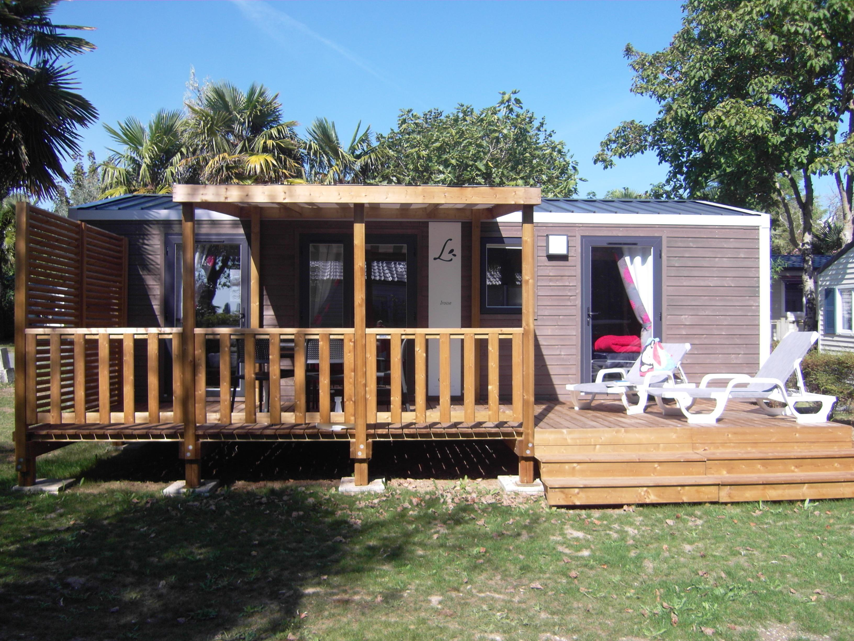 Location - Chalet Iroise 2 Chambres 4Pers Incluse 2 Sdb 2 Wc (S) - Camping Airotel Oléron